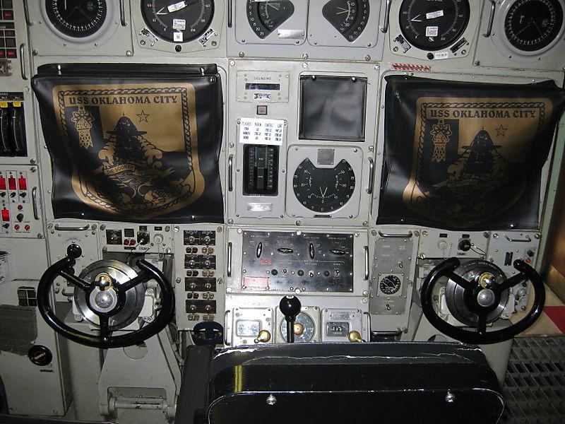 Controls in the USS Oklahoma City
