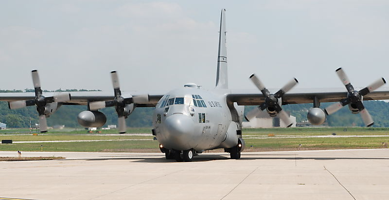 Our plane - a C-130