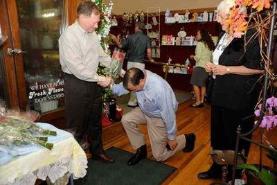 Kehoe bowing 2 mayor